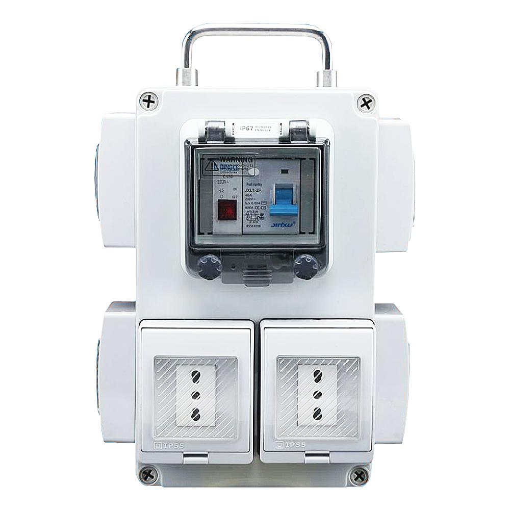 IGL55ZC-1G6L(1Gang Switch 6Gang Socket 16A-250V~)