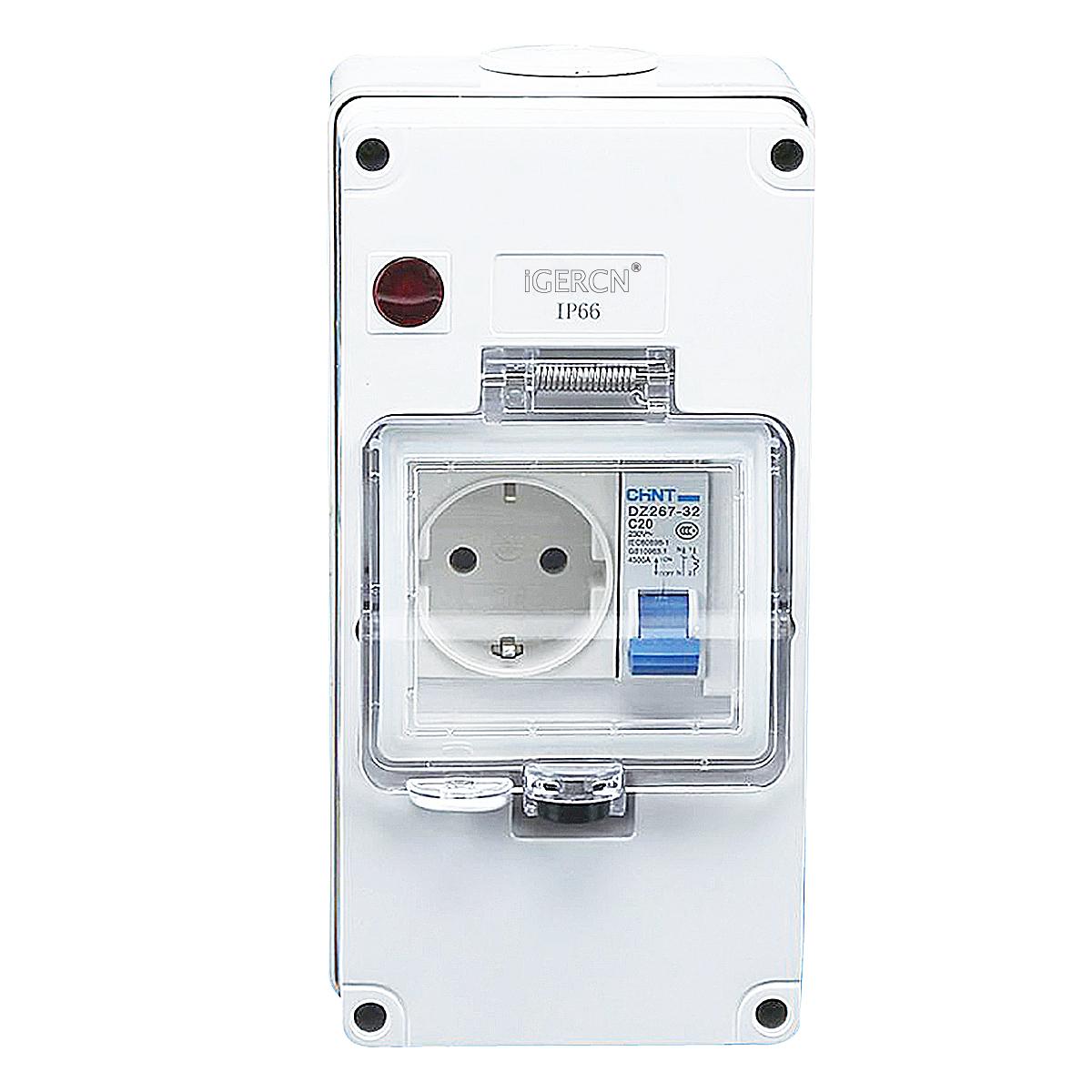 IGLCB4N-1G1SR(1Gang Switch Socket 16A-250V~)