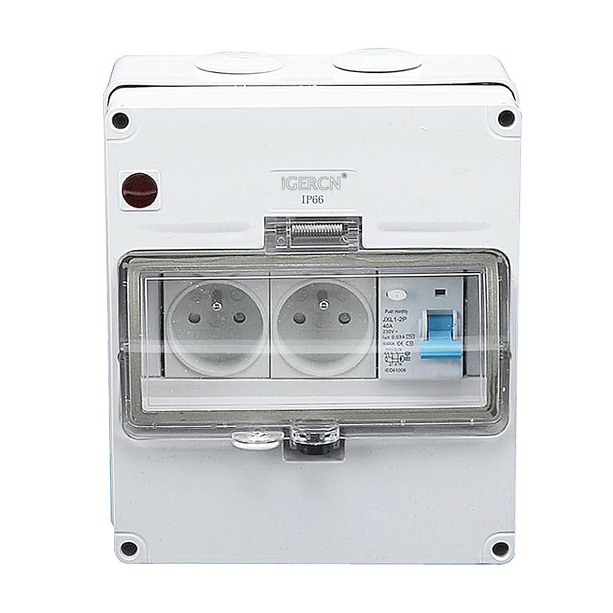 IGLCB8N-1G2FR(1Gang Switch 2Gang Socket 16A-250V~)