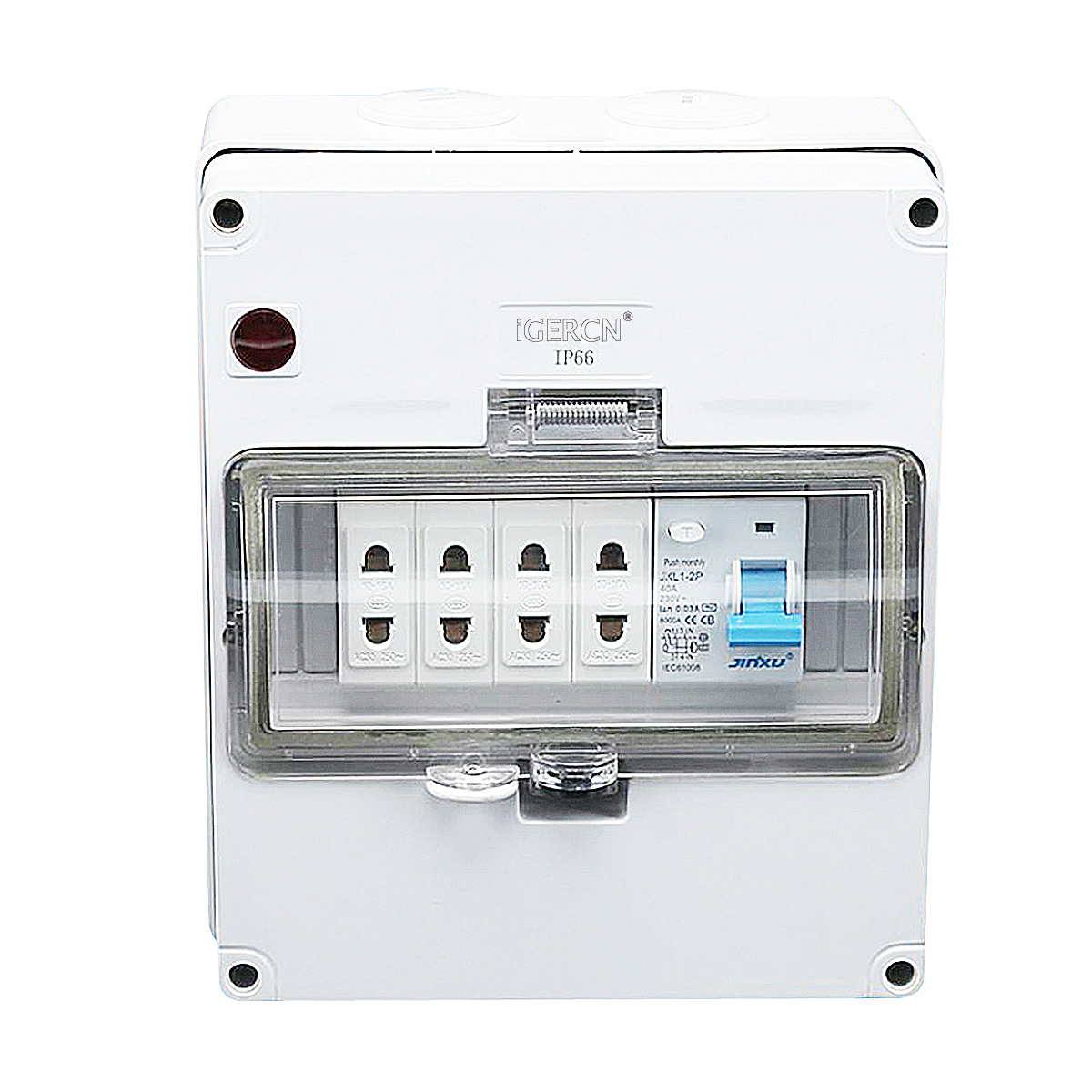 IGLCB8N-1G4TW(1Gang Switch 4Gang Socket 10A-250V~)